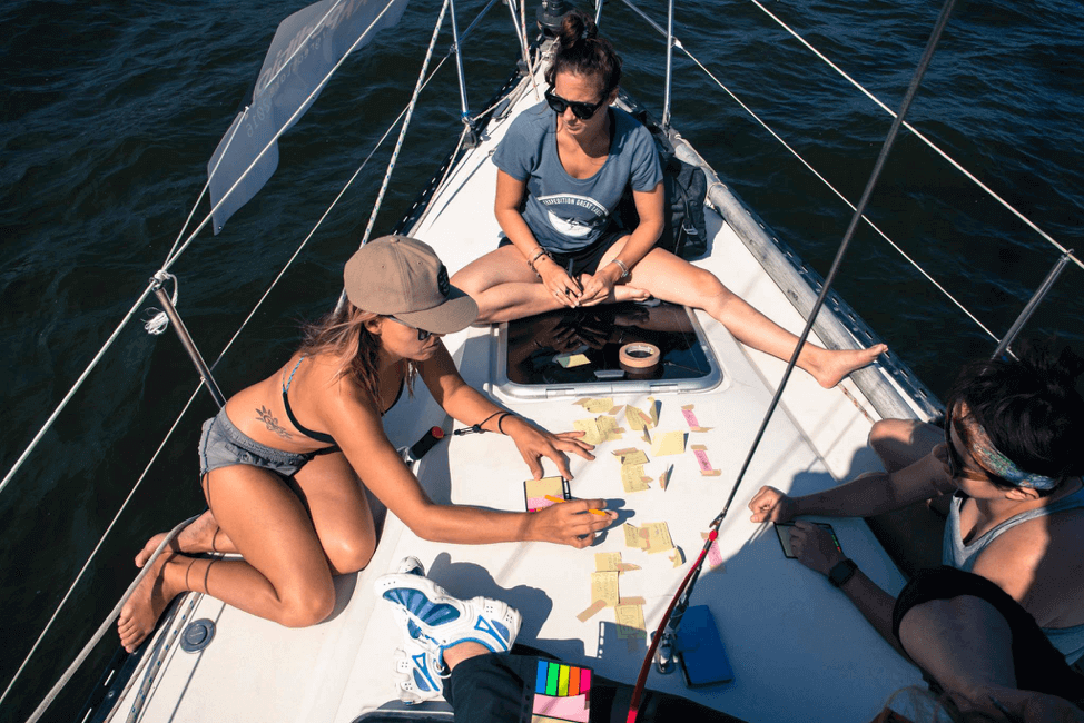 [pic of from an expedition boat while creating solutions such as The Green Stop]